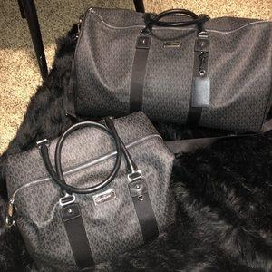 Michael kors duffle and overnight bag set